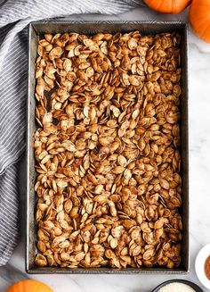 Homemade Roasted Cinnamon Sugar Pumpkin Seeds Recipe! Don't throw away the seeds when you carve pumpkins this year! Save them and make this recipe for the perfect sweet and salty fall snack! Vegan, gluten-free and dairy-free! and paleo-friendly! #pumpkin #pumpkinseeds #homemade #healthy #recipe #glutenfree #dairyfree #vegan #cinnamonsugar #paleo Cinnamon Sugar Pumpkin Seeds, Pumpkin Beer, Toasted Pumpkin Seeds, Roast Pumpkin, Baking Pumpkin Seeds, Homemade Pumpkin Seeds, Pumpkin Carving, Pumpkin Seed Recipes Baked, Baked Pumpkin