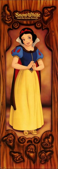 Snow White and the Seven Dwarfs Poster. My favourite Disney Princess growing up...till Jasmine came (: