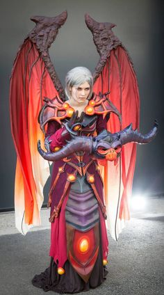 Malefic Raiment T6 Warlock Cosplay - World of Warcraft by Koni Cosplay. This is beyond stellar!
