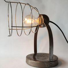 Antique Desk Lamp Sun Valley Industrial Lamp Industrial Lighting Steampunk Lighting Reclaimed Heat Lamp Retro Desk Lamp