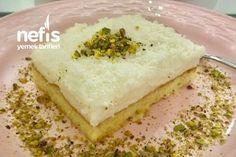 Gelin Pastası (2) Tarifi nasıl yapılır? 1.111 kişinin defterindeki Gelin Pastası (2) Tarifi'nin resimli anlatımı ve deneyenlerin fotoğrafları burada. Yazar: Güldeniz'in Mutfağı Feta, Food And Drink, Bread, Cheese, Brot, Baking, Breads, Buns