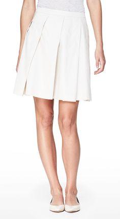 THEORY Sarise Skirt in Taranto Cotton