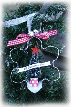 Cookie Cutter Ornament Christmas Crafts To Make, Mini Christmas Tree, Christmas Ornament Crafts, Christmas Fairy, Homemade Christmas, Rustic Christmas, Holiday Crafts, Christmas Things, Christmas Holidays