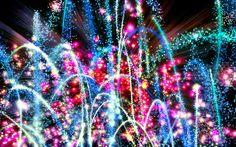 Rainbow Firework Wallpaper Free