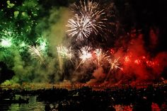 Festa del Redentore (July festival). Venice, Italy  The fireworks display is as amazing as this picture. It was one of the most spectacular things I have ever seen in my life