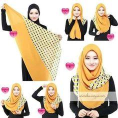 Ideas how to wear hijab headscarves turban style Hijab Musulman, Beau Hijab, Hijab Stile, Muslim Hijab, Hijab Dress, Hijab Chic, Turban Hijab, Square Hijab Tutorial, Simple Hijab Tutorial