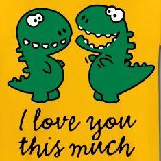 T-rex, dinosaure, petit, dessin animé, mignon, doux, mignon, valentine, valentine, humour, blague, amour, l'amour, drôle, dragon, pieds de dessin, tyrannosaurus, tyrannosaurus rex, prédateur, l'archéologie, courtTee shirts Enfants.