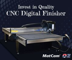 Use Matcam's #CNCknife sales, service and support as you buy a quality CNC digital finisher.#Matcam