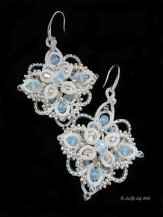 """Gardenia"" Tatting (ANKARS) earrings"
