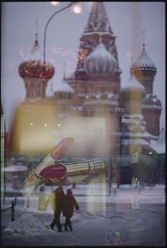 A view of Saint Basil's Cathedral in Red Square, Russia, shot through a store window. Photograph by Jodi Cobb, National Geographic Creative