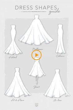 Kleiderformen - Informations About Dress Shapes P - Dress Design Sketches, Fashion Design Sketchbook, Fashion Illustration Sketches, Fashion Design Drawings, Fashion Sketches, Drawing Sketches, Pencil Art Drawings, Drawing Art, Sketching