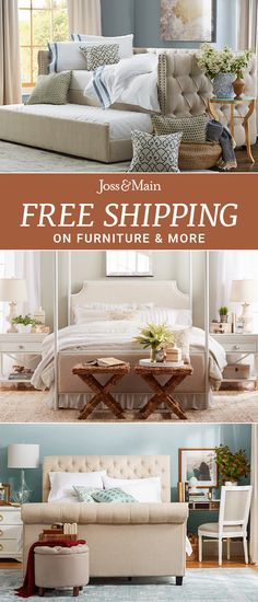 Snuggle up to stylish bedroom additions at a low price! Shop bedding, pillows & more bedroom finds that will add flair to your relaxation space. Sign up now at jossandmain.com!