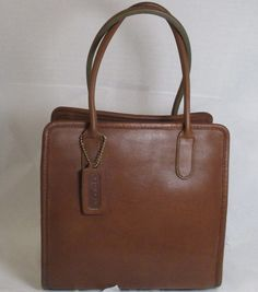 "Coach NYC Vintage Bonnie Cashin B Tan Leather ""Dinky"" Handbag New w Defects | eBay"