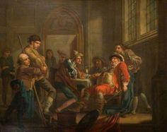 Sir John Falstaff Raising Recruits by Francis Hayman