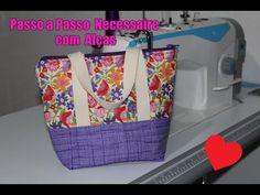 DIY - Passo a Passo Necessaire / Bolsinha de mão com Alças - YouTube