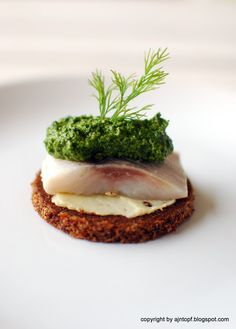 Herring with dill pesto.