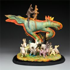 Hand built clay by Mike Norman Norman, Pottery, Clay, Tours, Christmas Ornaments, Holiday Decor, Animals, Artists, Ceramics