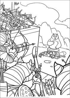 Kung Fu Panda Tegninger til Farvelægning. Printbare Farvelægning for børn. Tegninger til udskriv og farve nº 25