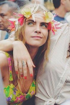 Cara Delevingne at Coachella.