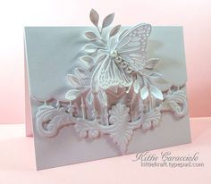 White on White Anjas Border and Butterfly