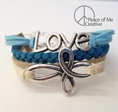 Layered Love & Infinity Cross Bracelet
