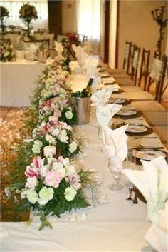 wedding flower table centrepieces
