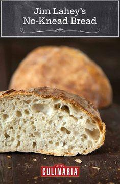 No-Knead Artisan Bread How To Make Bread, Bread Making, Food To Make, Knead Bread Recipe, No Knead Bread, Sourdough Bread, Artisan Bread Recipes, Baking Recipes, Jim Lahey