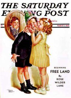 *Birthday Kiss by Frances Tipton Hunter (1896 – 1957, American)