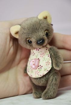 Miniature teddy bear artist toy collection  stuffed plush bear
