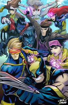 xmen group by glencanlas X-Men Marvel Xmen, Marvel Comics Art, Marvel Heroes, Gambit Wallpaper, Man Wallpaper, Comic Movies, Comic Books Art, Comic Art, Comics Anime