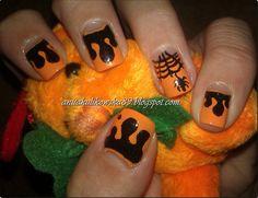 Halloween nail art. design