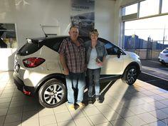 Mavis and Eddy collecting their new Renault Captur... #CDRenault