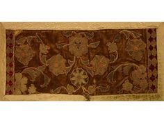 16th Century Metallic Thread Embroidery Appliqué on Velvet - Tapestry Source