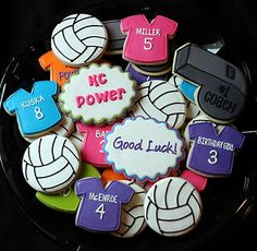 Icings by Ang: KC Power Volleyball Cookies Volleyball Cookies, Volleyball Tournaments, Volleyball Gifts, Volleyball Ideas, Softball Treats, Volleyball Motivation, Volleyball Inspiration, Volleyball Training, Volleyball Quotes
