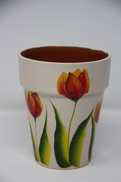 Hand painted Clay Flower Pot, yard and garden decor, patio decor Hand painted flower pot flower pot Garden lover Flower Pot Art, Flower Pot Design, Clay Flower Pots, Flower Pot Crafts, Clay Pot Crafts, Clay Pots, Painted Plant Pots, Painted Flower Pots, Decorated Flower Pots