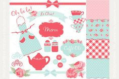 Clipart Combo: Kitchen Tea by MyClipArtStore on @creativemarket