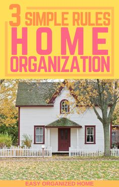 Follow these 3 simple rules that everyone home organization pro knows, so you too can have a home that is aways organized and tidy! #homehacks #Homeorganization #organizationhacks #organize #organizingtips