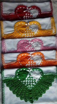 Best Crochet Edging And Borders Lace Fabrics Ideas Wool Thread, Thread Crochet, Crochet Stitches, Lace Doilies, Crochet Doilies, Potholder Patterns, Crochet Patterns, Crochet Bikini Pattern, Vintage Crochet