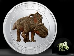 Collectible Canadian Quarter Features Dinosaur With A Glow In The Dark Skeleton
