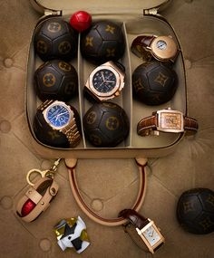 LV watch case // i generally think louis vuitton is ridiculously pretentious looking, but this is a cool idea.