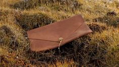 leather laptop cover...that I wouldn't hesitate to use as an envelope clutch