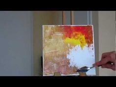Tanja Campana pintura abstracta Árboles Parte 1 Tutorial Palette Knife
