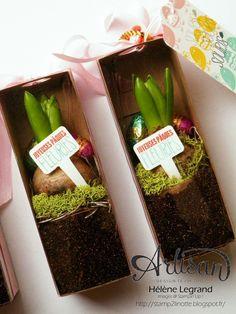 Tag a bag gift box for your flowers - Stamp 2 LiNotte: Joyeuses Pâques fleuries - Stampin'Up ! Artisan Blog Hop - Février # 1