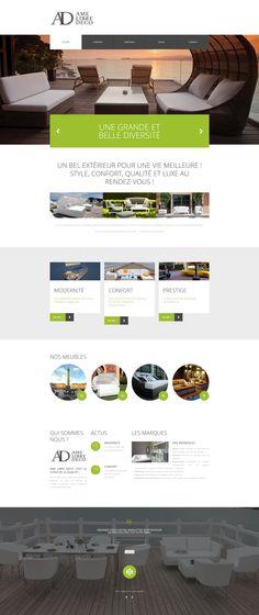 Le dernier né est un site pour ALD Ame Libre Déco. Une entreprise Parisienne de meuble de luxe.  Site vitrine responsive : www.amelibredeco.fr