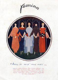 Humble Doeuillet Tais-toi Mon Coeur Robe De Lingerie Gazette Bon Ton Eo 1913 Art