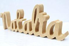 TWÓJ TEKST napis litery STOJĄCY WYRAZY KOLORY 3D - sweety-home - Litery i napisy