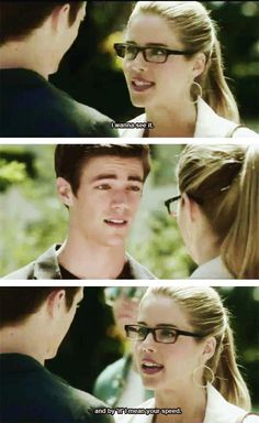 Ahaha I love Felicity! The Flash - Felicity and Barry - #1.04 #GoingRogue - #Lol