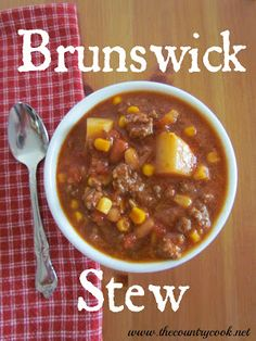 Brunswick Stew/Yum  http://www.thecountrycook.net/2012/11/brunswick-stew.html?utm_source=feedburner_medium=email_campaign=Feed%3A+blogspot%2FyFEUJ+%28The+Country+Cook%29