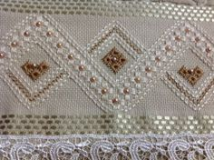 This post was discovered by Nu Towel Embroidery, Hand Embroidery Videos, Hardanger Embroidery, Hand Embroidery Stitches, Hand Embroidery Designs, Hem Stitch, Chain Stitch, Cross Stitch, Blackwork