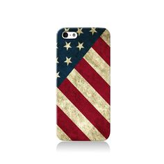 Retro Stars & Stripes USA is available for iPhone 4/4S, iPhone 5/5s, iPhone 5c and new iPhone 6. The picture shows the design on an iPhone 5/5s case